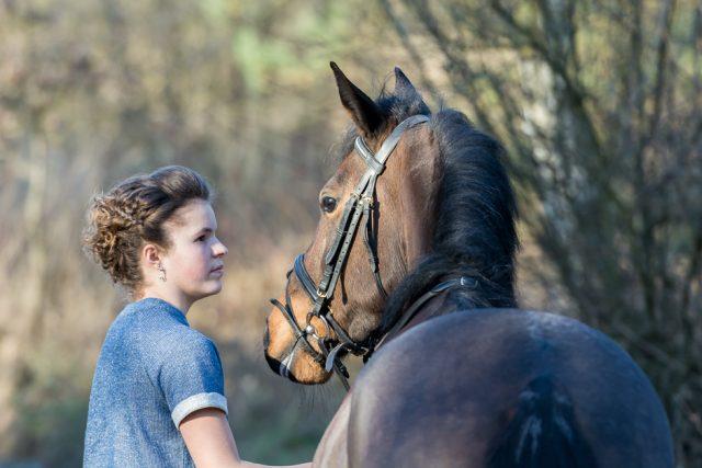Communie fotoshoot met pony